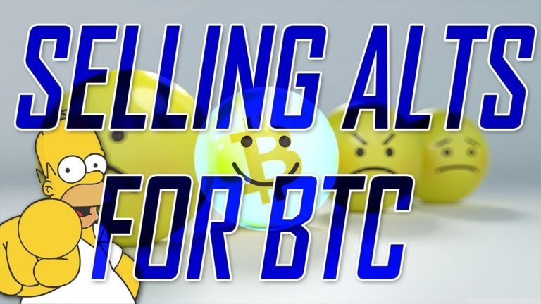 Selling Alts for Bitcoin