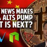 China News Pumps Bitcoin & Chinese Alts Hard! What's Next?