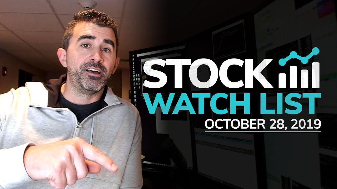 Stock Watch List and Game Plan for October 28, 2019
