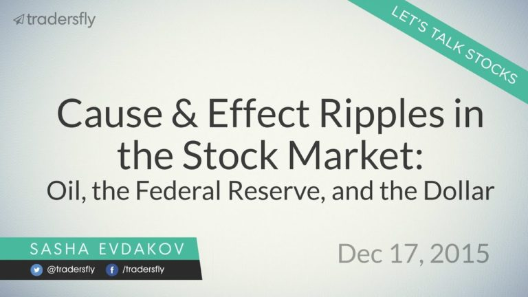 Cause & Effect Ripples in the Stock Market: Oil, the Federal Reserve, and the Dollar