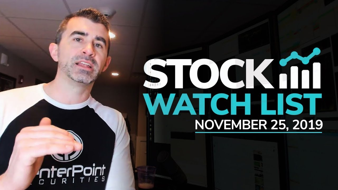 Stock Watch List and Game Plan for November 25th, 2019