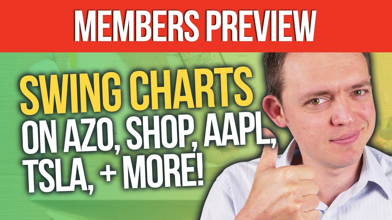 Swing Charts Members PREVIEW: AZO, SHOP, AAPL, TSLA, & MORE!