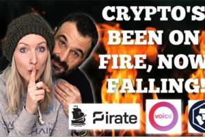 Crypto markets been on Fire NOW Falling | Privacy on Pirate Chain | EOS Voice