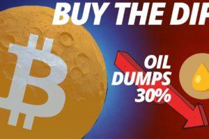 Bitcoin Crashes Below $8,000 | Oil Plummets 34%