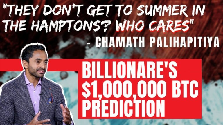BILLIONARE and Major Bitcoin Supply Holder Chamath Palihapitiya Doesn't Care About Wall Street!