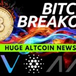 Bitcoin is on FIRE!! HUGE Altcoin Updates Vechain, Cardano, Energi, AAX