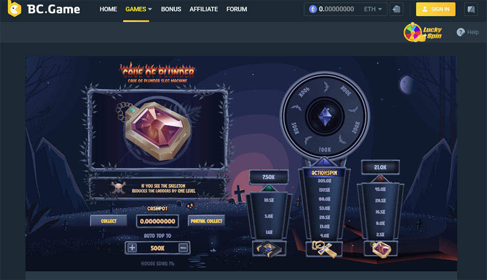 Cave Of Plunder Ethereum game